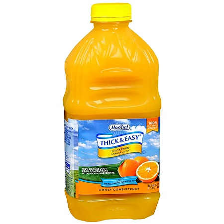Hormel Thick & Easy Thickened Orange Juice Honey Consistency - 48 oz.