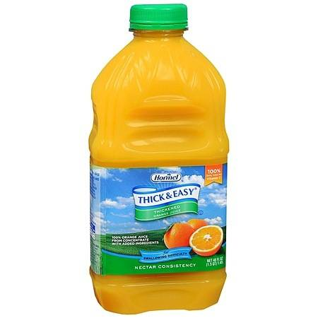 Hormel Thick & Easy Thickened Orange Juice Nectar Consistency - 48 oz.