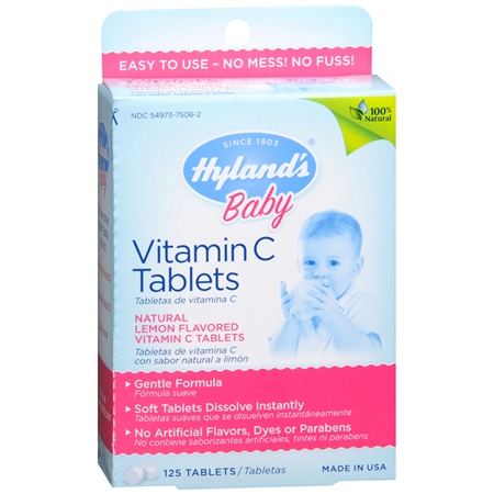 Hyland's Baby Baby Vitamin C Dietary Supplement Tablets Lemon - 125 ea
