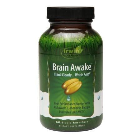 Irwin Naturals Brain Awake, Softgels - 60 ea