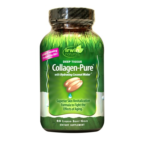 Irwin Naturals Deep Tissue Collagen-Pure with Hydrating Coconut Water, Softgels - 80 ea
