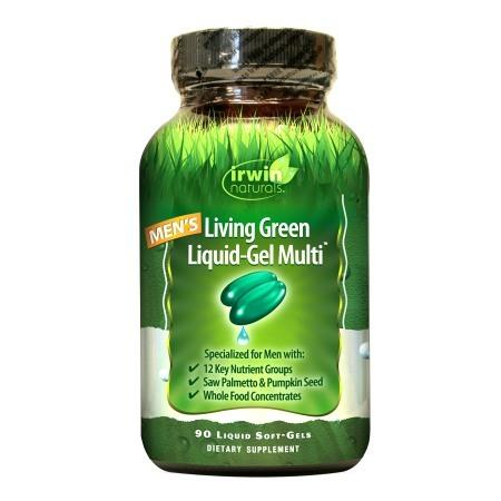 Irwin Naturals Men's Living Green Liquid-Gel Multi Soft-Gels - 90 liquid softgels
