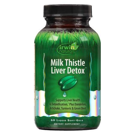 Irwin Naturals Milk Thistle Liver Detox Liquid Softgels - 60 ea