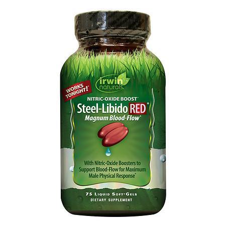 Irwin Naturals Steel-Libido RED max-Blood Flow, Softgels - 75 ea