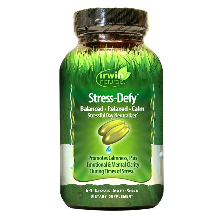 Irwin Naturals Stress-Defy Liquid Soft-Gels Stressful Day Neutralizer - 84 softgels