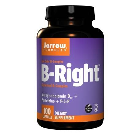 Jarrow Formulas B-Right, Low Odor B-Complex, Capsules - 100 ea