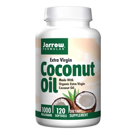 Jarrow Formulas Extra Virgin Coconut Oil, 1000mg, Softgels - 120 ea