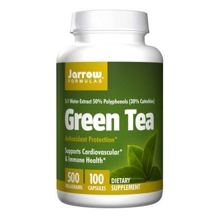 Jarrow Formulas Green Tea 500mg, Capsules - 100 ea