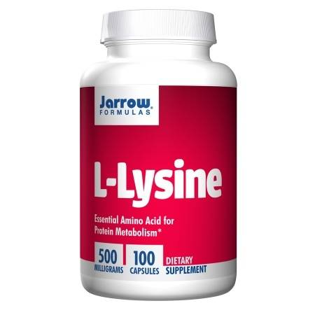 Jarrow Formulas L-Lysine 500, Capsules - 100 ea