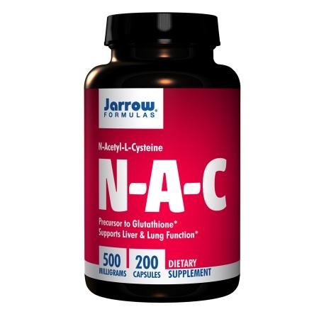 Jarrow Formulas N-A-C, N-Acetyl-L-Cysteine 500mg, Capsules - 200 ea