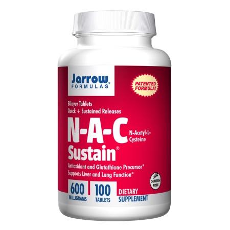 Jarrow Formulas N-A-C Sustain, Tablets - 100 ea