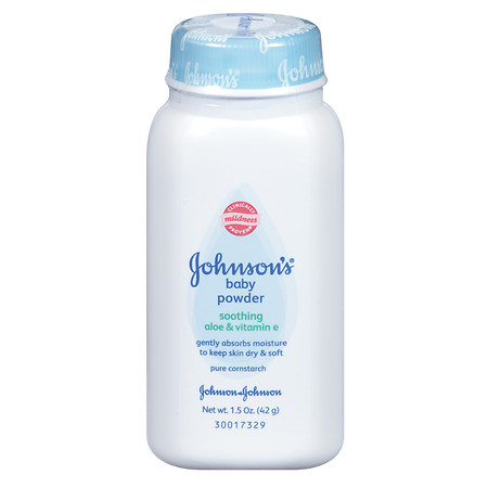 Johnson's Baby Baby Powder with Pure Cornstarch, Soothing Aloe & Vitamin E - 1.5 oz.