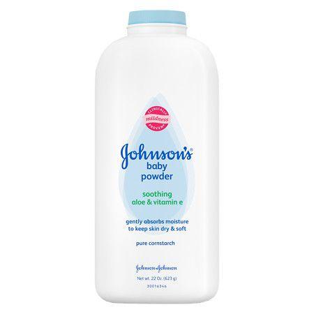 Johnson's Baby Pure Cornstarch Powder Soothing Aloe Vera & Vitamin E - 22 oz.