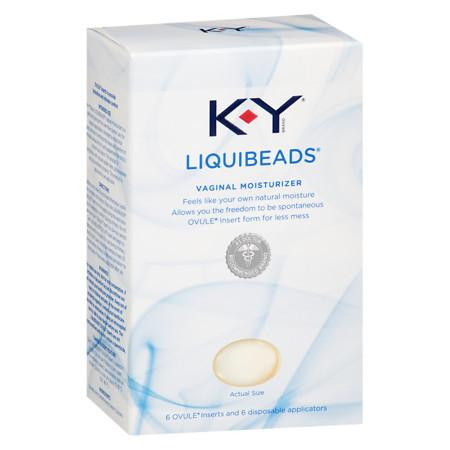 K-Y Liquibeads Vaginal Moisturizer - 6 ea