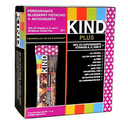 KIND Plus Nutrition Bars Pomegranate Blueberry Pistachio + Antioxidants - 1.4 oz.