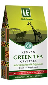 Kenyan Green Tea Crystals, 14 stick packs, 14 g (0.5 oz)