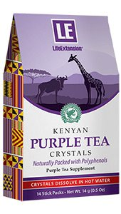 Kenyan Purple Tea Crystals, 14 stick packs, 14 g (0.5 oz)