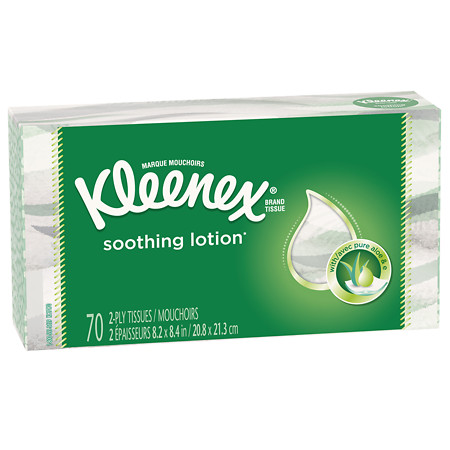 Kleenex Facial Tissues with Lotion - 70 sh
