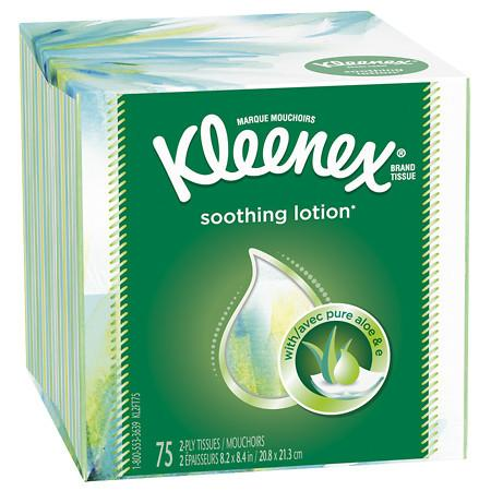 Kleenex Facial Tissues with Lotion - 75 sh