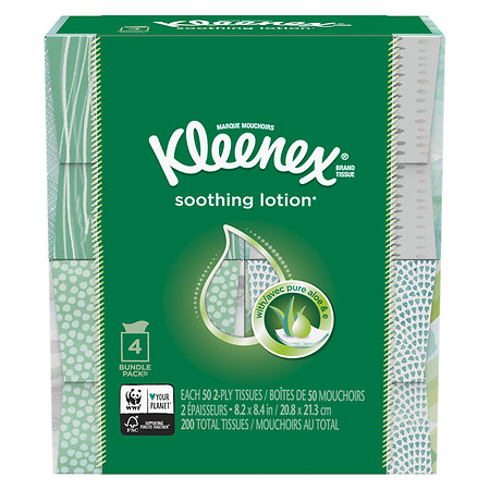 Kleenex Soothing Lotion Facial Tissue - 200 ea