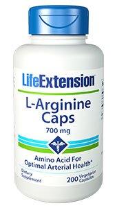 L-Arginine Caps, 700 mg, 200 vegetarian capsules