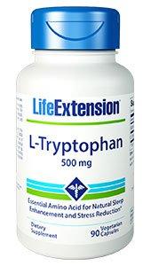 L-Tryptophan, 500 mg, 90 vegetarian capsules.