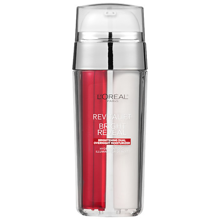 L'Oreal Paris Revitalift Bright Reveal Dual Overnight Moisturizer - 1 oz.