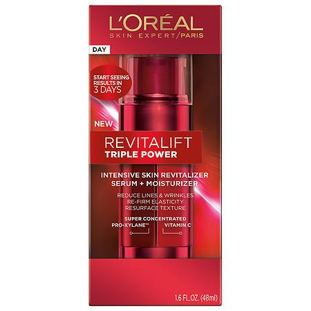 L'Oreal Paris Revitalift Triple Power Intensive Skin Serum + Moisturizer - 1.6 oz.