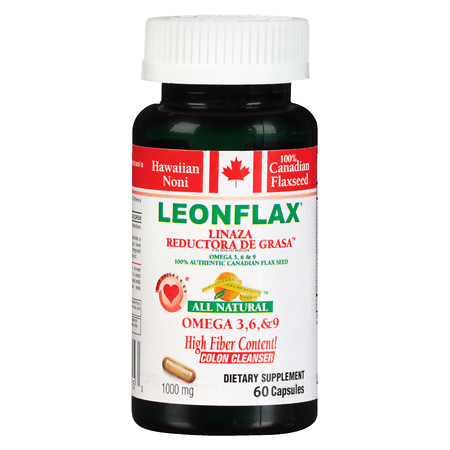 Leonflax Omega 3, 6 & 9 Flax Seed Dietary Supplement - 60 ea
