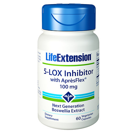 Life Extension 5-LOX Inhibitor with ApresFlex 100mg, Veggie Caps - 60 ea