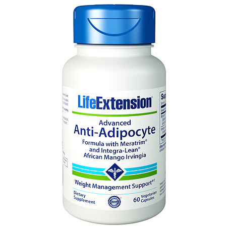 Life Extension Advanced Anti-Adipocyte Formula, Veggie Caps - 60 ea
