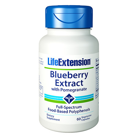 Life Extension Blueberry Extract, Vegetarian Capsules - 60 ea