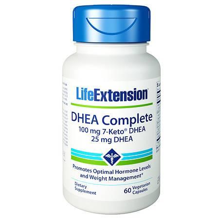 Life Extension DHEA Complete 100mg 7-KETO, Veggie Caps - 60 ea