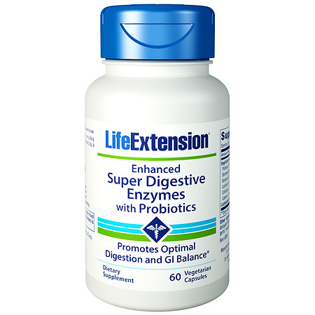 Life Extension Enhanced Super Digestive Enzymes with Probiotics - 60 ea
