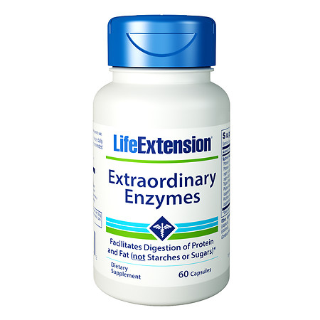 Life Extension Extraordinary Enzymes, Capsules - 60 ea