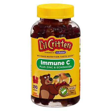 L'il Critters Immune C Plus Zinc and Echinacea, Gummy Bears Natural Fruit Flavors - 190 ea