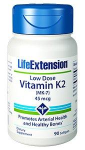 Low-Dose Vitamin K2, 45 mcg, 90 softgels