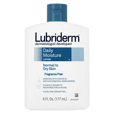 Lubriderm Daily Moisture Lotion for Normal to Dry Skin Fragrance Free - 6 fl oz