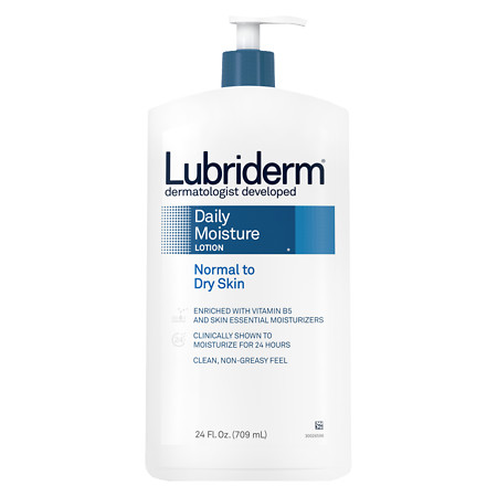 Lubriderm Daily Moisture Moisturizing Lotion for Normal to Dry Skin - 24 fl oz