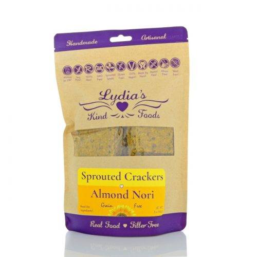 Lydia's Kind Foods Almond Nori Crackers, 5 oz