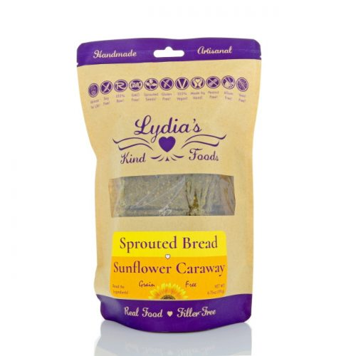 Lydia's Kind Foods Sunflower Caraway Seed Bread, 6.75 oz