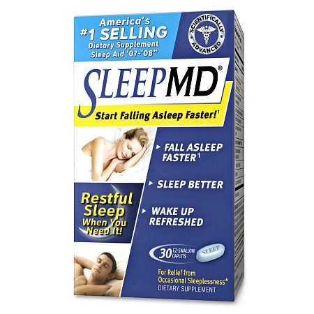 MD Products Sleep Aid Dietary Supplement EZ-Swallow Caplets - 30 ea