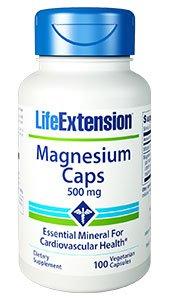 Magnesium Caps, 500 mg, 100 vegetarian capsules