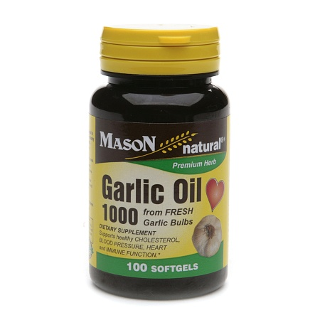 Mason Natural Garlic Oil 1000, Softgels - 100 ea