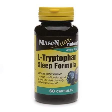 Mason Natural L-Tryptophan Sleep Formula, Capsules - 60 ea
