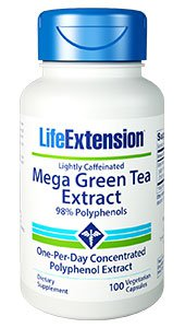 Mega Green Tea Extract (lightly caffeinated), 100 vegetarian capsules
