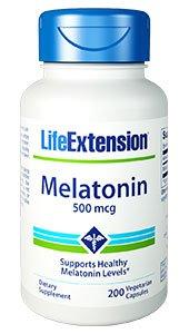 Melatonin, 500 mcg, 200 vegetarian capsules