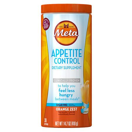 Meta Appetite Control Dietary Supplement, Sugar-Free Orange - 14.7 oz.