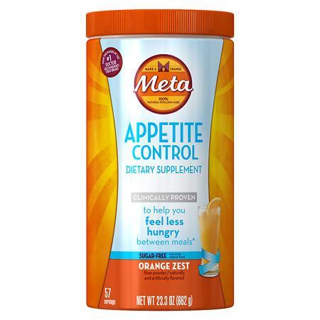 Meta Appetite Control Dietary Supplement, Sugar-Free Orange - 23.9 oz.