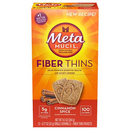 Metamucil Multi-Grain Fiber Wafers Cinnamon Spice - 0.77 oz.